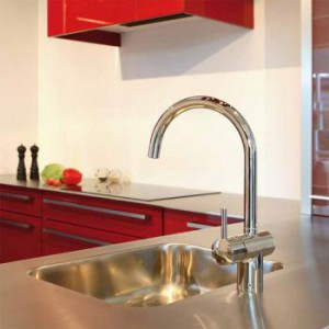 180770000 Damixa Osier cмеситель для кухни с керамическим регулятором и С-образным изливом, с X-Change базы